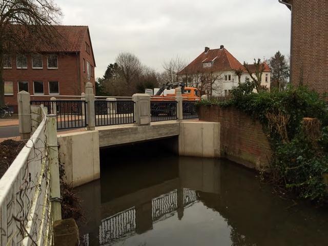 Neubau Brücke in der Theisstraße, Quakenbrück